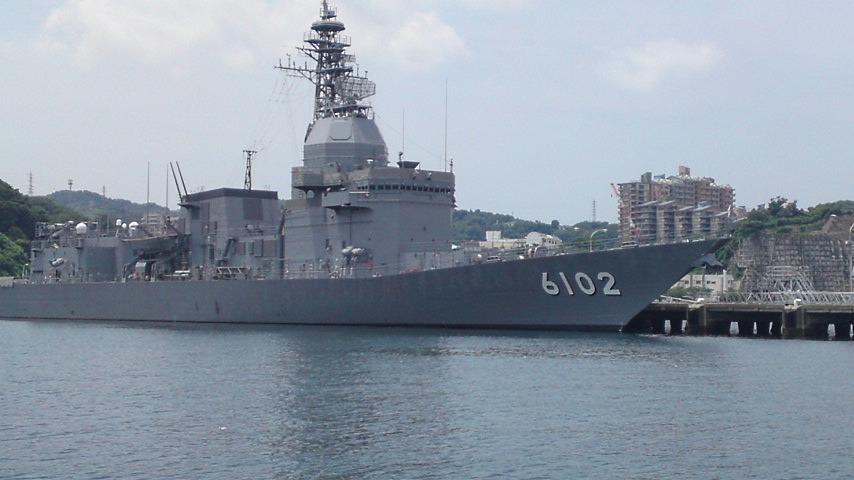 横須賀軍港 6102 艦載兵器実験艦(同型艦はない).jpg